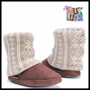 ⭐️⭐️ MUK LUKS BOOTIES Slipper Boots